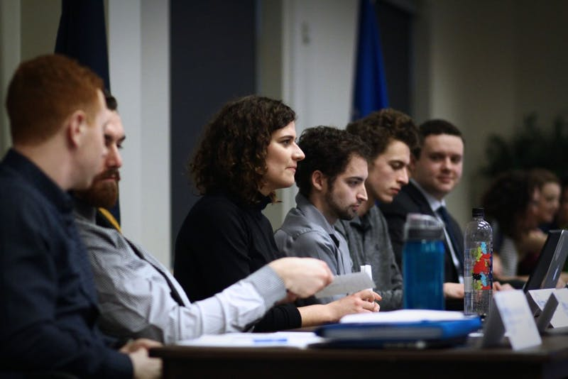 GVL / Sheila BabbittStudents listen to others speak at the Student Senate meeting on January 11th, 2017.