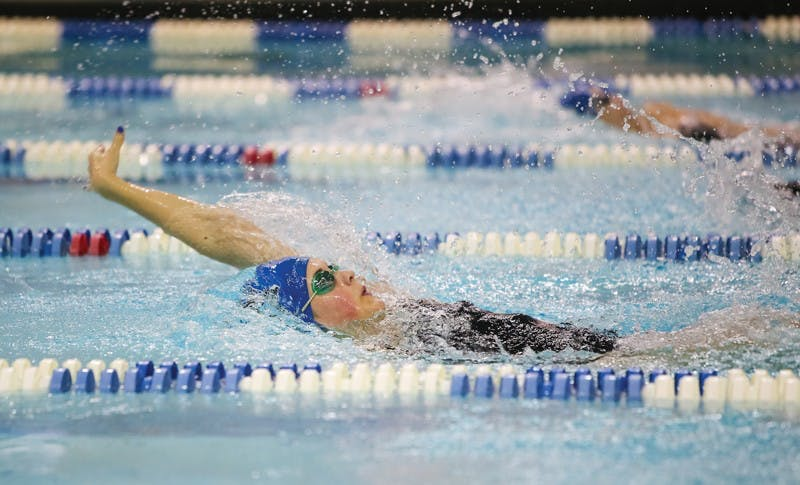 GVL/Bo AndersonHailey LaBar swims the backstroke.