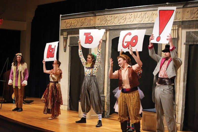 GVL / Emily Frye      Bard To Go runs through their last performance of the Shakespeare Festival on Nov. 7th.