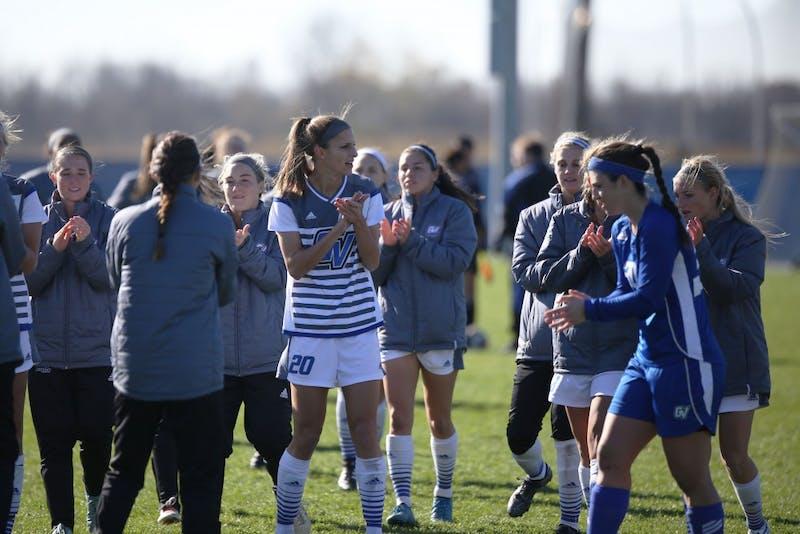 GVL / Luke Holmes - GVSU Women's Soccer won 2-0 against Missouri St. Louis on Sunday, Nov. 13, 2016.