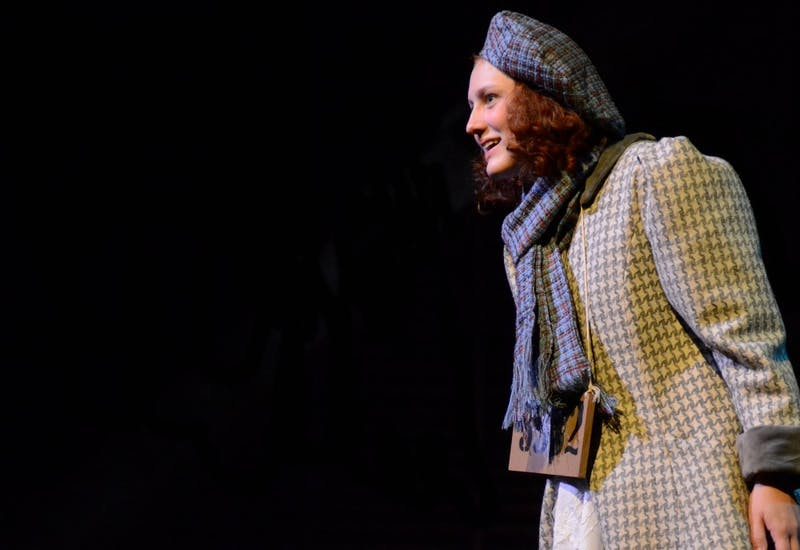 """GVL / Hannah Mico. The main character of """"Kindertransport,"""" Eva, is played by Marllory Caillaud-Jones."""