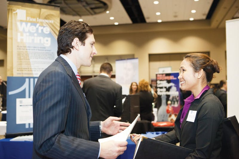 2012 Career Fair.  GVL/Archive