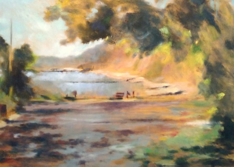 """Poets were provided 19 works to inspire their writing, such as Judy Tummino's """"Summer Light. 