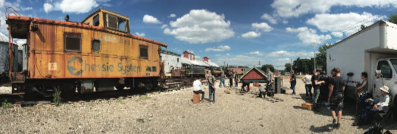 Students and professional directors work alongside railroads and trains located in west Michigan to tell the story of a young boy growing up in the Great Depression.   Courtesy / Sally Hoerr