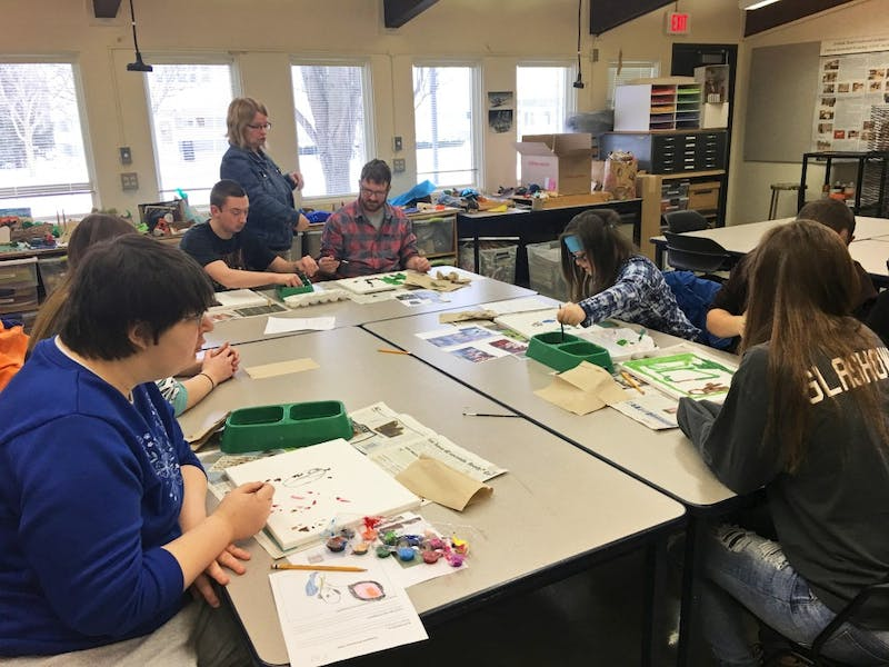 """GVL/Carmen Smith - The Art Buddies and """"Compassion for a Common Future"""" on Thursday, Feb. 2, 2017."""