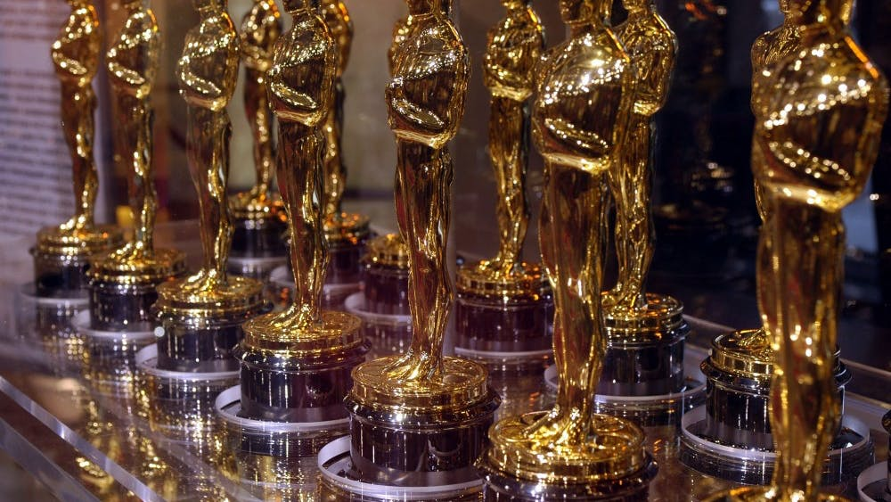 """Oscar awards that were presented to winners at an Academy Award presentation were displayed at """"Meet the Oscars"""" on Feb. 12, 2007, in the Times Square Studios in New York City. The 90th Academy Awards ceremony will take place March 4, 2018."""