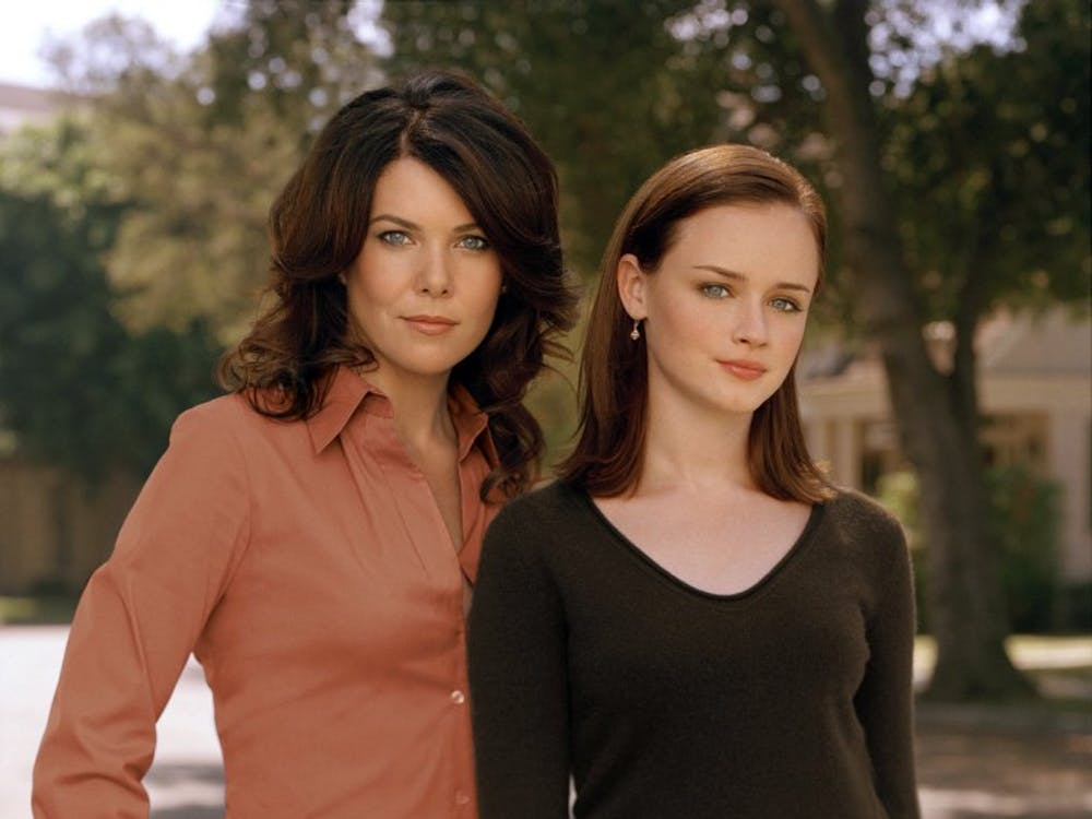 """KRT PLUGGED IN STORY SLUGGED: TVONDVD KRT PHOTO (December 14) """"Gilmore Girls: The Complete Fifth Season"""" (Warner, 22 episodes, six discs, $59.98) collects the 2004-05 season, which ended with Rory in trouble and Lorelai proposing to Luke.  (gsb) 2005"""