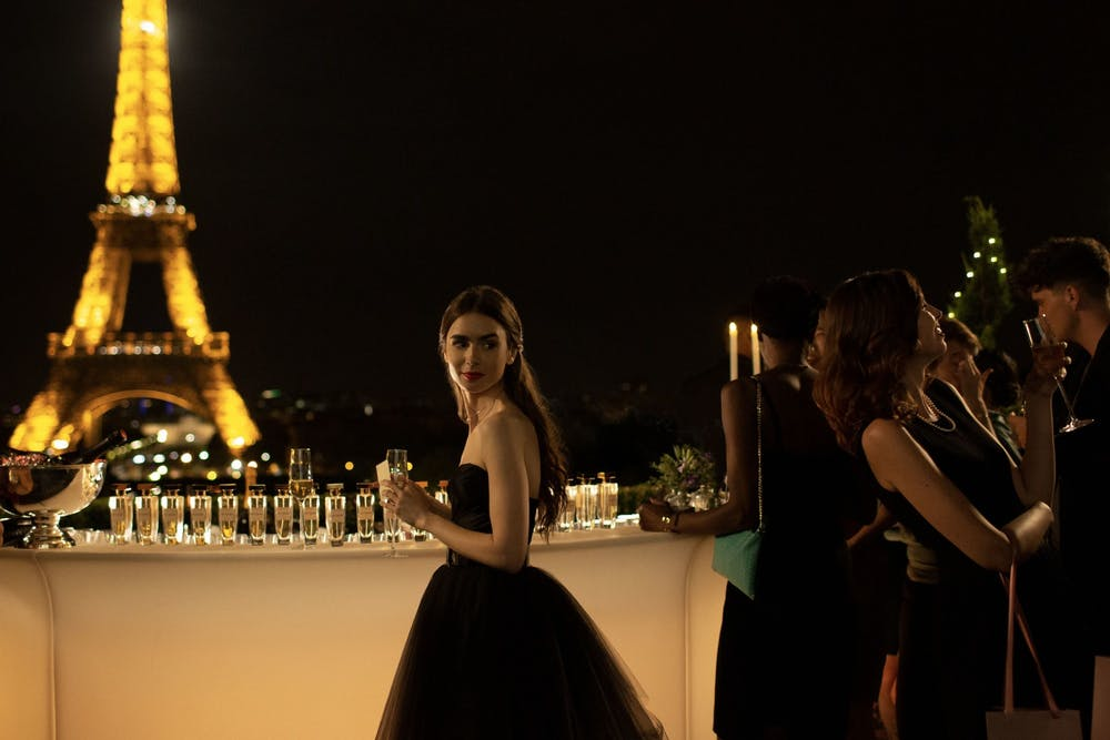 <p>Lily Collins, as Emily Cooper, performs in &quot;Emily in Paris.&quot; The 2020 Netflix original series was nominated for a Golden Globe on Feb. 3. </p>
