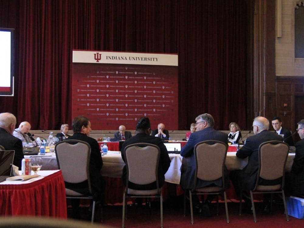 IU Board of Trustees meets April 5, 2018, in the Indiana Memorial Union. The board approved President Michael McRobbie's recommendation toincreasethe IU's minimum wagefrom $12.33 an hour to $13.66 an hour, and eventually up to $15.