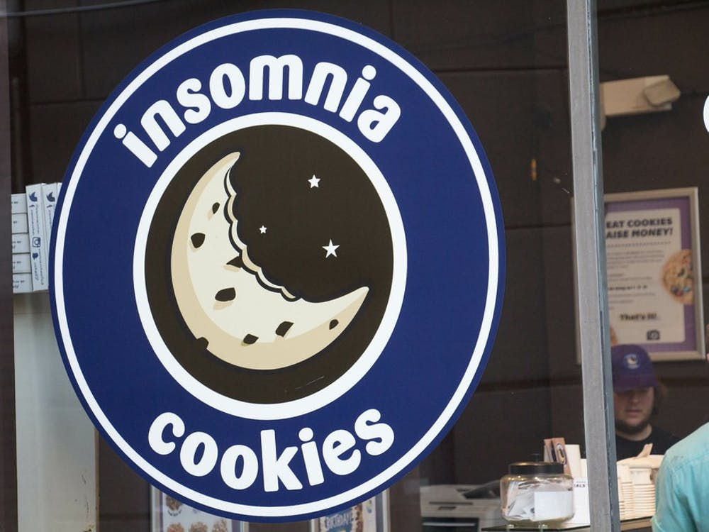 An Insomnia Cookies sign appears in Philadelphia. An Insomnia Cookies will open in Bloomington on Kirkwood Avenue in February, according to a press release Friday.