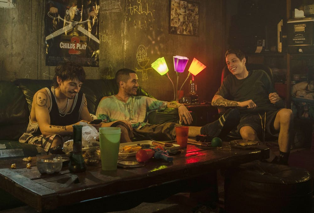 <p>Moisés Arias, Ricky Velez and Pete Davidson are seen in the 2020 film &quot;The King of Staten Island.&quot; Velez will be performing April 30-May 1 at the Comedy Attic in Bloomington.</p>