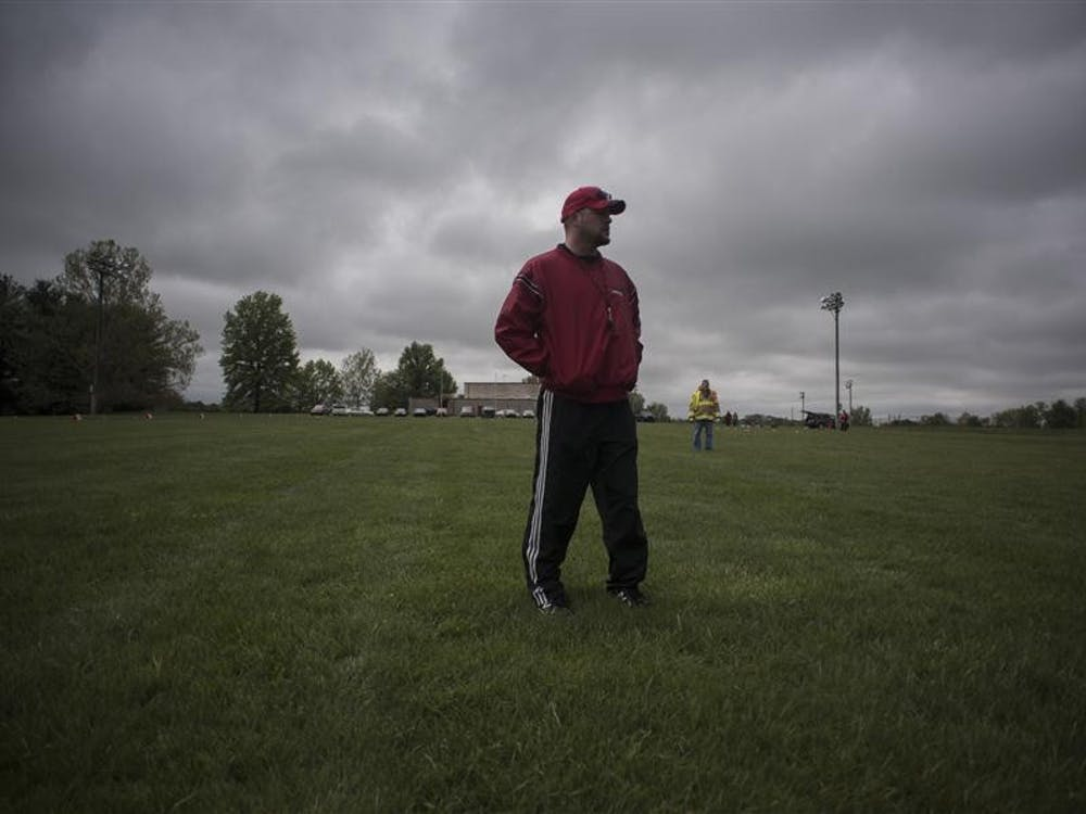 """McCool surveys his team as the first Cutters camp nears two hours of grueling conditioning and running drills. He looks around at his men. """"We got a couple of studs that'll do alright, but for some it's a reality check that 'I'm not in shape,'"""" he said. """"We're getting down to business. What that means, guys, is when you come to practice, you're ready to work, ok? Don't hang out, don't sit on the side, don't get some shade. Work. That's what we're here for."""""""