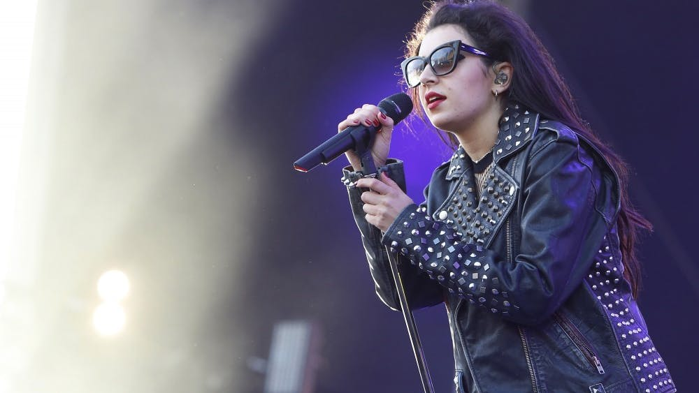 Charlie XCX performs at the Mercedes-Benz Evolution stage during the Rock in Rio USA music festival May 15, 2015 in Las Vegas.