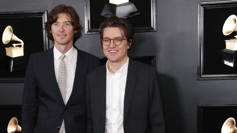 The Milk Carton Kids arrive at the 61st Grammy Awards on Feb. 10. The duo will perform March 3 at the Buskirk-Chumley Theater.