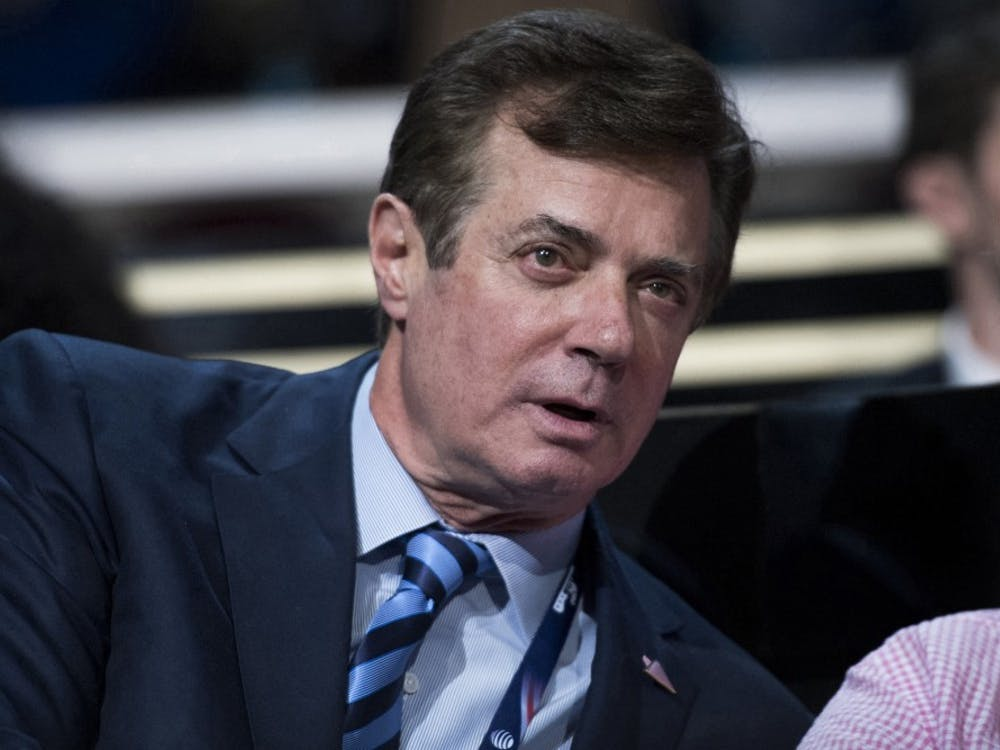 Paul Manafort, on July 19, 2016, is at the Quicken Loans Arena for the Republican National Convention in Cleveland, Ohio.