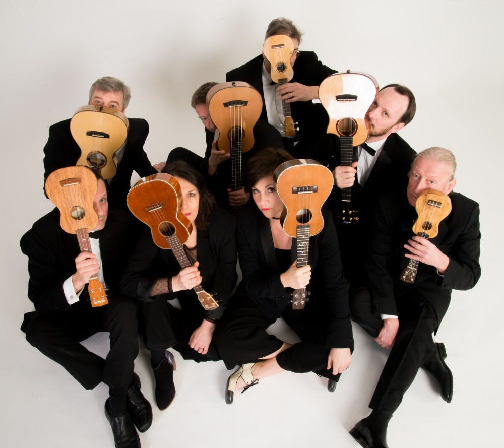 <p>George Hinchliffe's Ukulele Orchestra of Great Britain is performing at 8 p.m. March 21 at the Buskirk-Chumley Theater. The group has been around for more than 30 years and has performed around the world. </p>