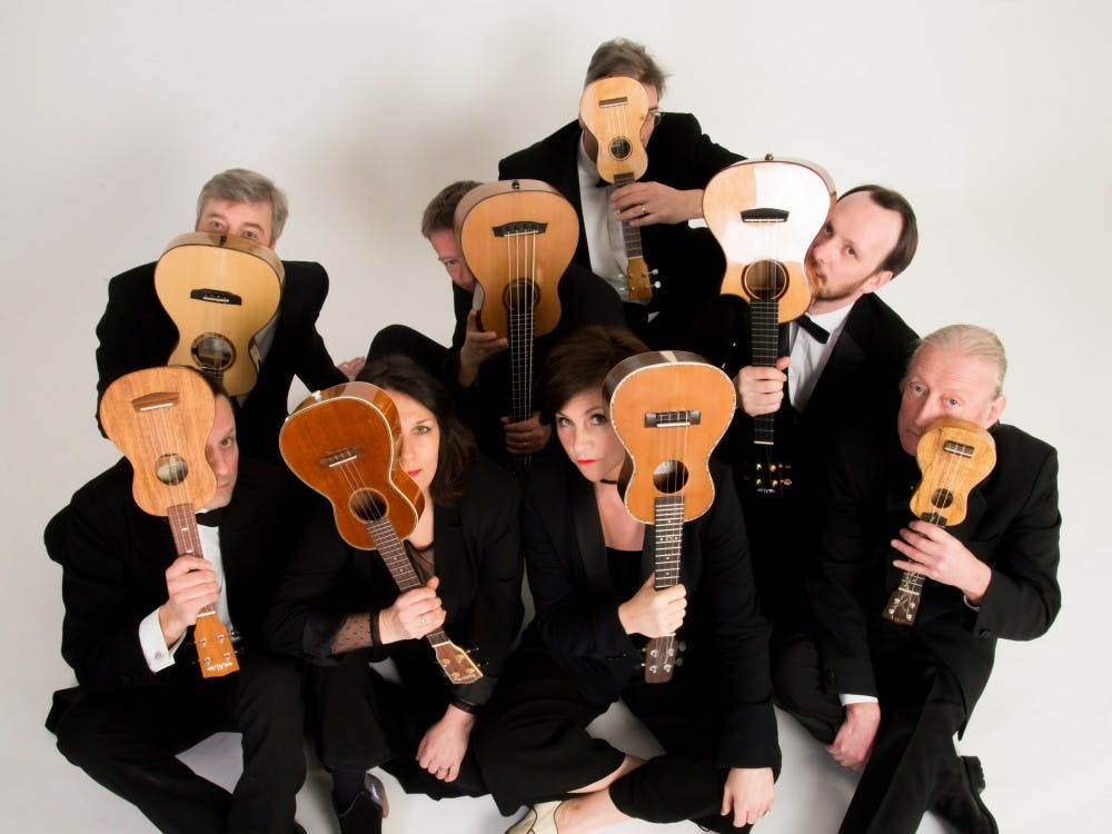 George Hinchliffe's Ukulele Orchestra of Great Britain is performing at 8 p.m. March 21 at the Buskirk-Chumley Theater. The group has been around for more than 30 years and has performed around the world.