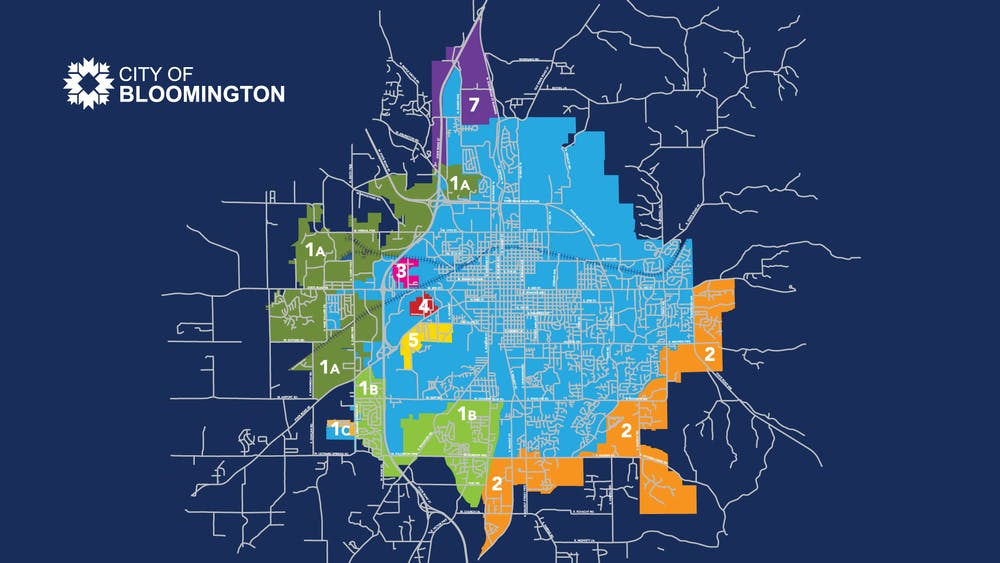 The proposed annexation areas for the City of Bloomington as of April 22, 2021. The Bloomington City Council approved area 1A to be annexed into the city Wednesday.