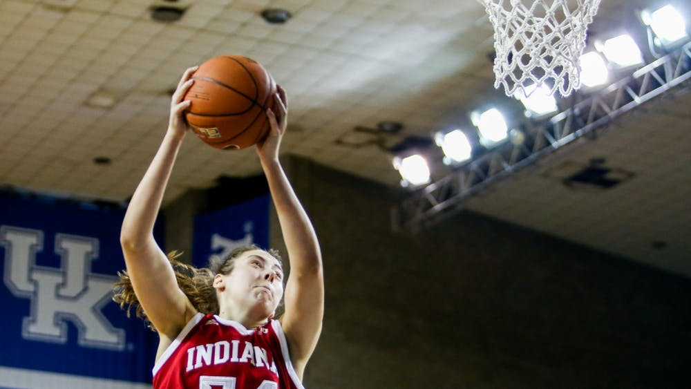 Sophomore Mackenzie Holmes plays Dec. 6 against the University of Kentucky in Lexington, Kentucky. IU defeated Illinois 79-56 on Thursday.