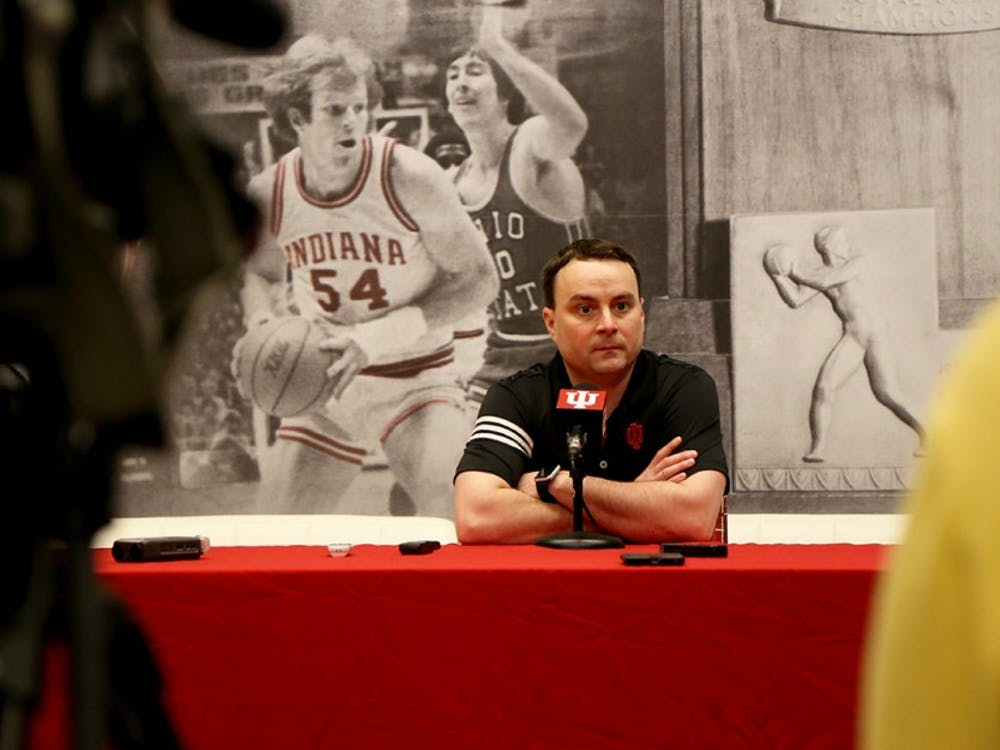 IU men's basketball coach Archie Miller met with IU basketball beat reporters Tuesday for the first time since his introductory press conference March 27. Miller's new assistant coaches also spoke to the media Tuesday morning for the first time.