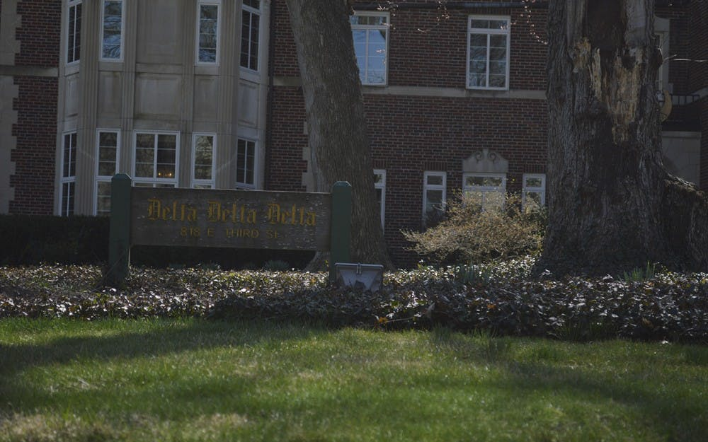 <p>The Delta Delta Delta house sits on Third Street. The IU Delta Omicron chapter of Delta Delta Delta was revoked Saturday after the group's national organization said the IU members' activities clashed with Tri Delt's high standards and purpose.</p>