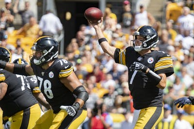 Pittsburgh Steelers quarterback Ben Roethlisberger throws the ball. Roethlisberger will miss the remainder of the 2019 season with an injury to his throwing elbow.