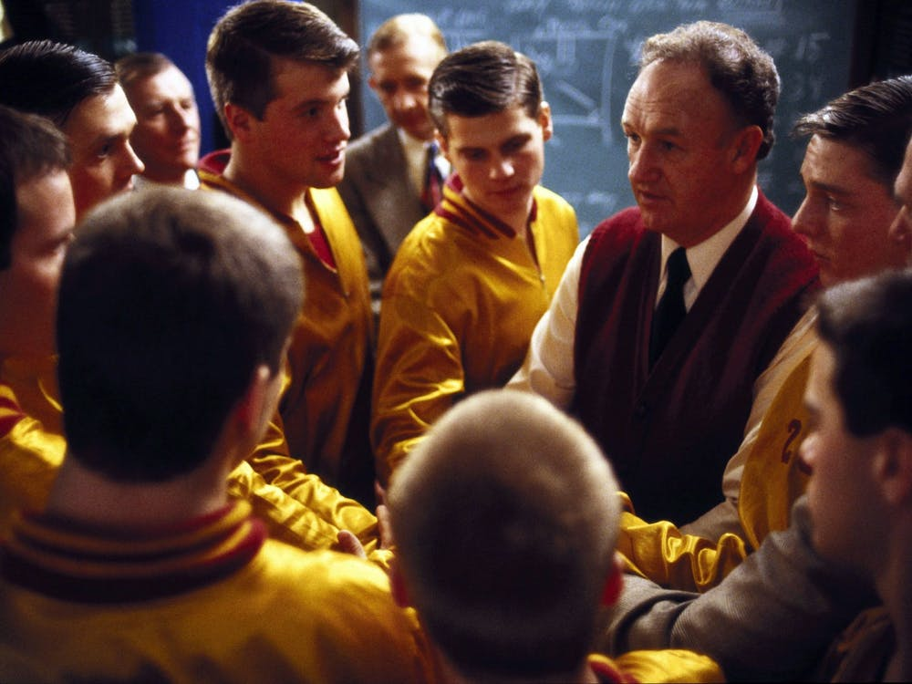 """Cast members of the 1986 film """"Hoosiers"""" appear. The IU Auditorium will host """"Hoosiers: 35 Years Later, A Conversation with Screenwriter and IU Alum Angelo Pizzo"""" Wednesday over Zoom."""