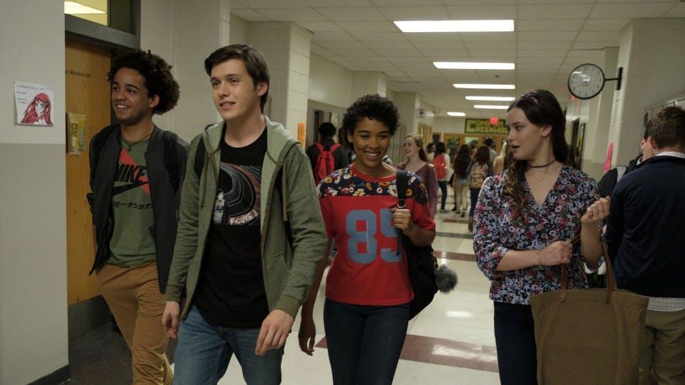 "Jorge Lendeborg Jr., Nick Robinson, Alexandra Shipp and Katherine Langford star in the 2018 film ""Love, Simon."" The film focuses on the romantic struggles of Simon, a gay high schooler."
