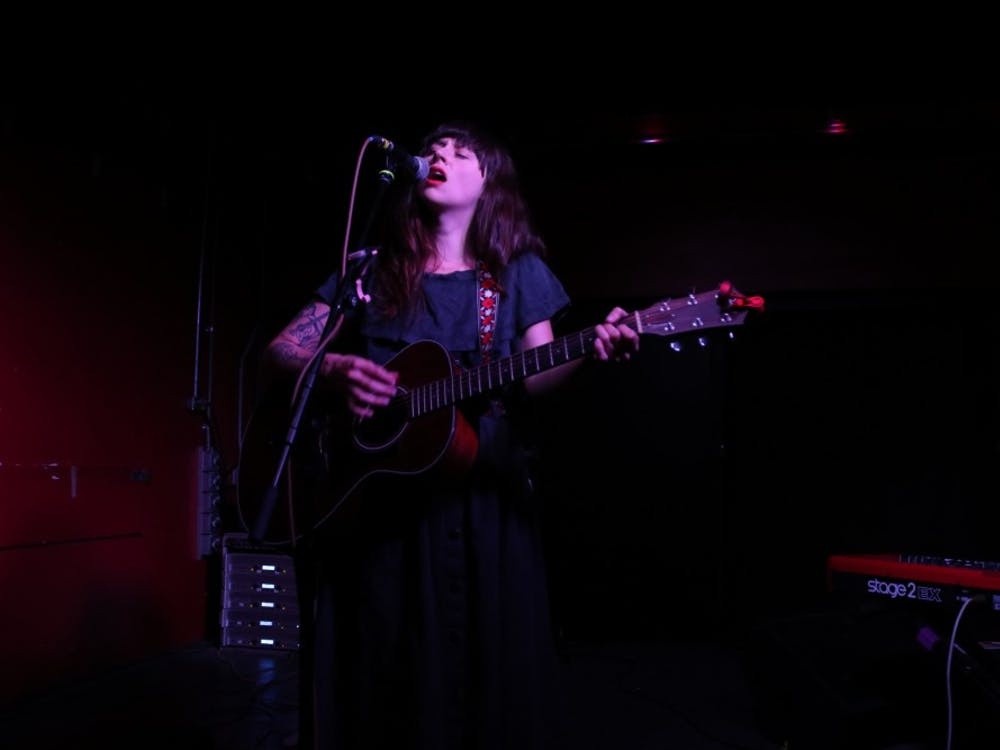 Waxahatchee performs May 12 at the Bishop in Bloomington. The performance was part of Granfalloon: A Kurt Vonnegut Convergence, which took place May 10 through May 12.