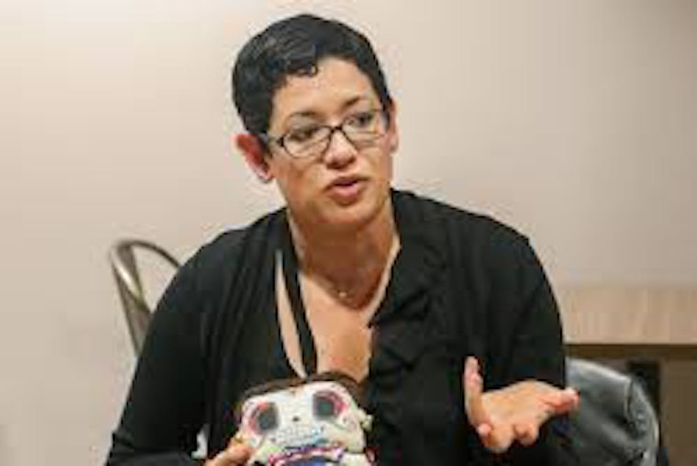 <p>Mintzi Martinez-Rivera speaks during a FaculTEAS event at Providence College. Martinez-Rivera will be a speaker at the GMC Trailblazers and Innovators series&#x27; career seminar.</p>
