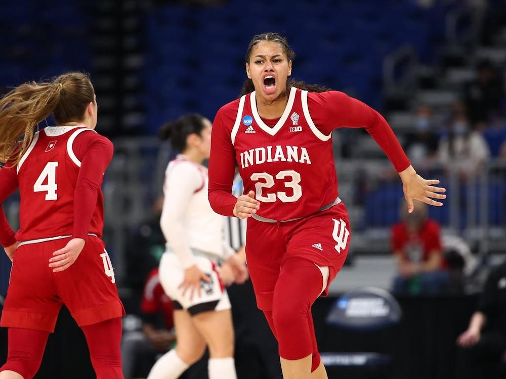 Freshman Kiandra Browne runs during a game against North Carolina State on March 27 during the NCAA tournament. The Hoosiers lost 53-66 to the Arizona Wildcats on Monday in San Antonio, Texas.