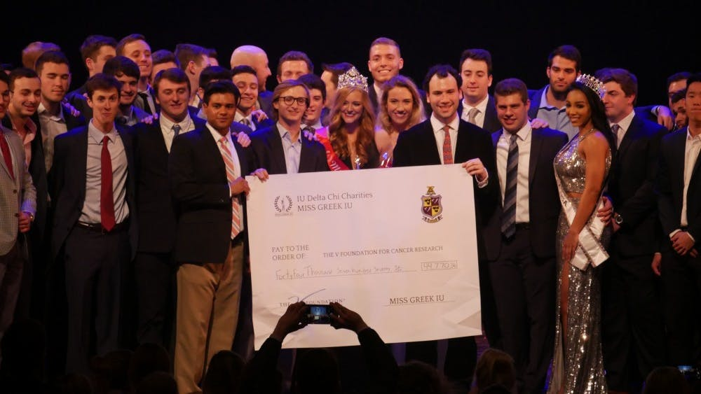 Delta Chi's philanthropy Miss Greek IU will take place at 7 p.m. March 31 at the IU Auditorium. The philanthropic pageant will raise money for the V Foundation for Cancer Research, along with each contestant's sorority's philanthropy.