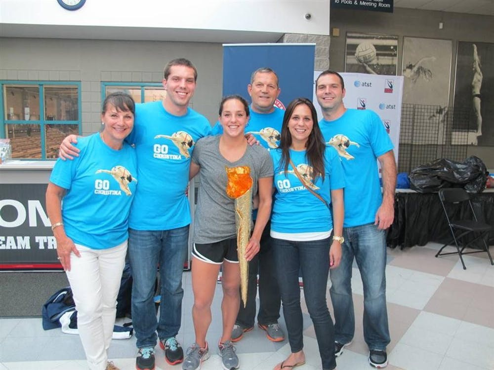 The Loukas family at the US Olympic Team Trials on June 23 in Seattle.