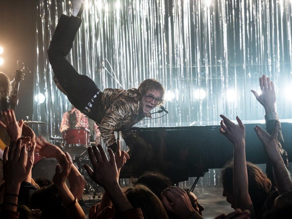 Taron Egerton plays Elton John in Rocketman from Paramount Pictures.