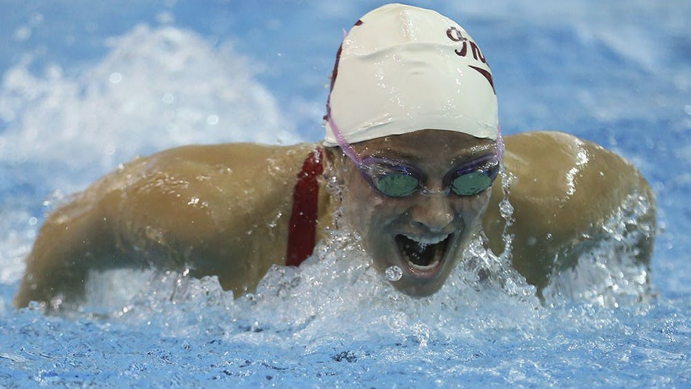 Sophomore Gia Dalesandro swims in the 200 Butterfly at the Big Ten Women's Swimming and Diving Championships on Saturday in Columbus, Ohio. Dalesandro finished first.