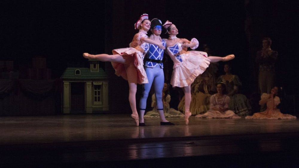 "Cecilia Zanone, Reece Conrad and Jadyn Dahlberg dance as life-like dolls in ""The Nutcracker."" The ballet will run Nov. 30, Dec. 1 and 2 at 7:30 p.m., and Dec. 2 and 3 at 2 p.m. at the Musical Arts Center."