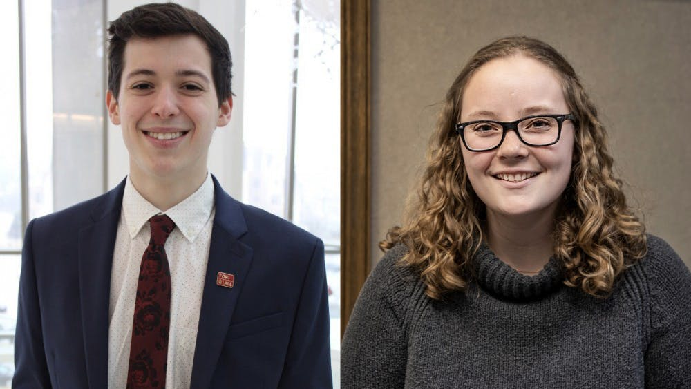 Juniors Isabel Mishkin and Matt Stein have teamed up to run for IU student body president and vice president. Their campaign team is called Vision.