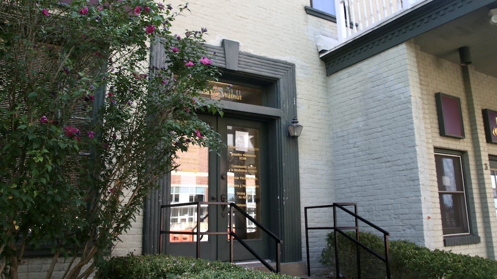 205 S. Walnut St. is pictured Aug. 20. The Community Justice and Meditation Center is located on the upper level.