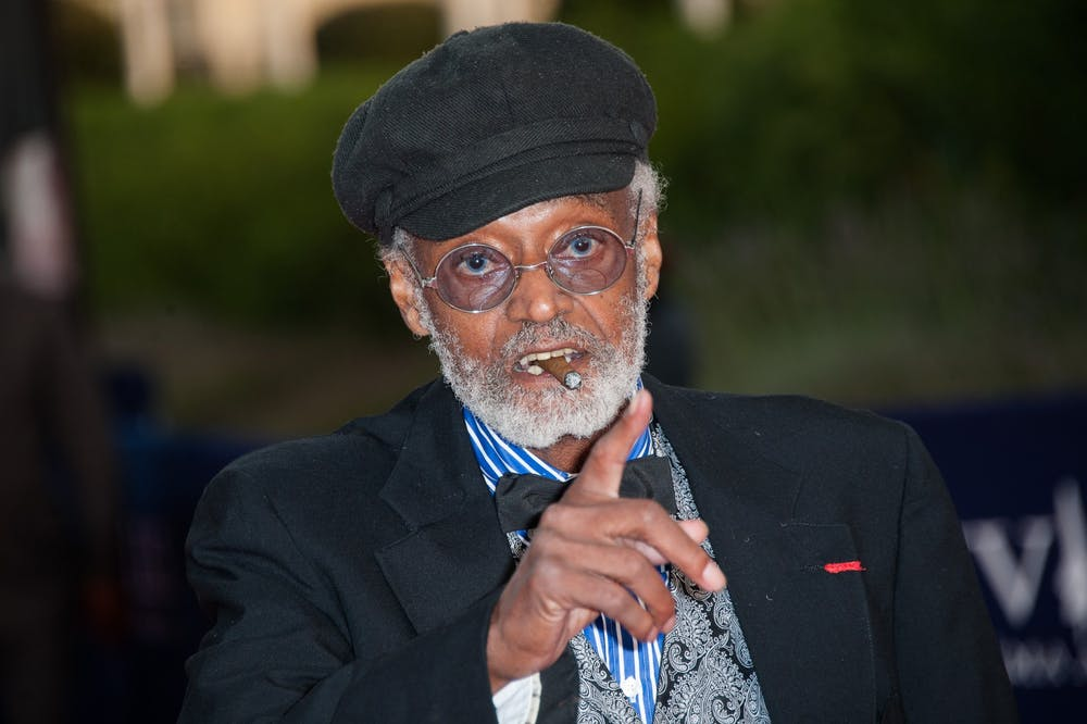 <p>Melvin Van Peebles arrives at the &quot;Lawless&quot; Premiere during the 38th Deauville American Film Festival on Sept. 5, 2012, in Deauville, France. </p>