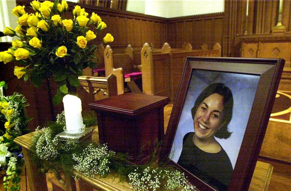 <p>A memorial display for former IU student Jill Behrman is pictured. The United States Supreme Court denied a writ of certiorari for John Myers, the man convicted of the murder of Jill Behrman, in an order list released April 5.</p><p><br/></p>