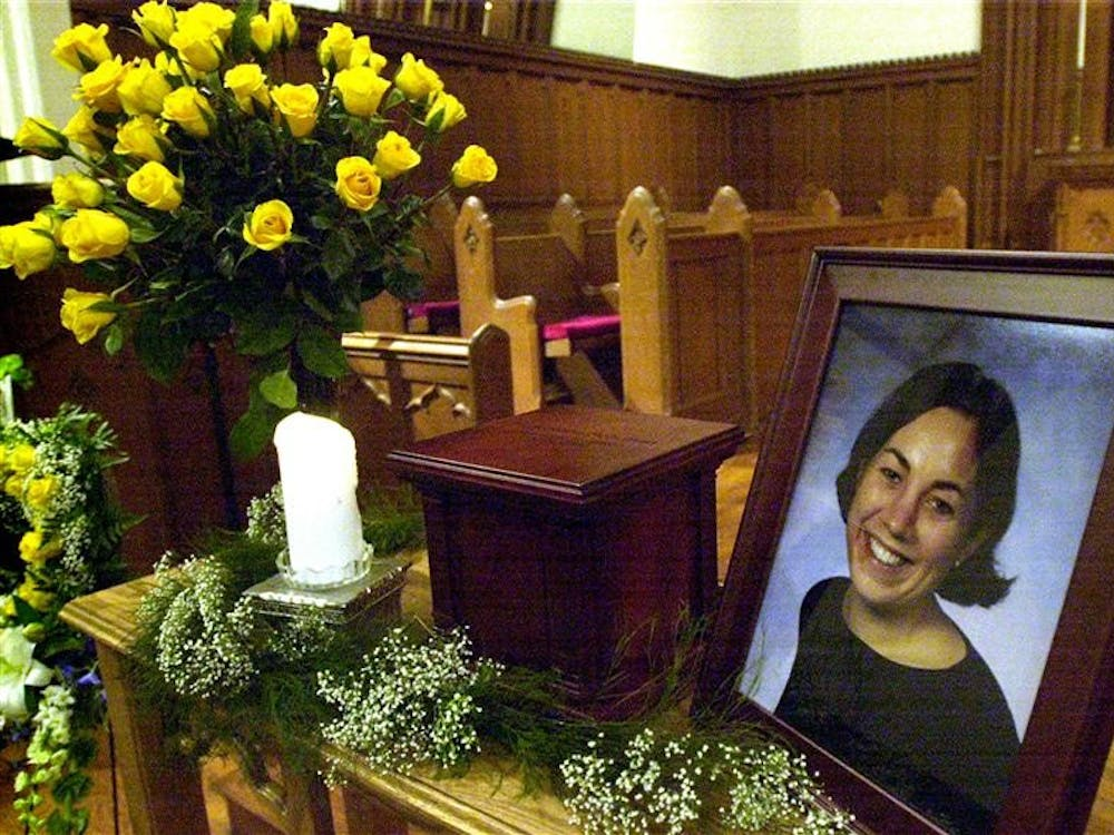 A memorial display for former IU student Jill Behrman is pictured. The United States Supreme Court denied a writ of certiorari for John Myers, the man convicted of the murder of Jill Behrman, in an order list released April 5.