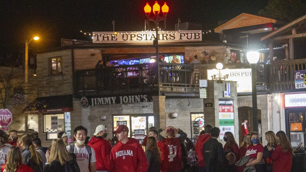 Fans gather on Kirkwood Avenue after IU defeated No. 8 Penn State on Oct. 24.
