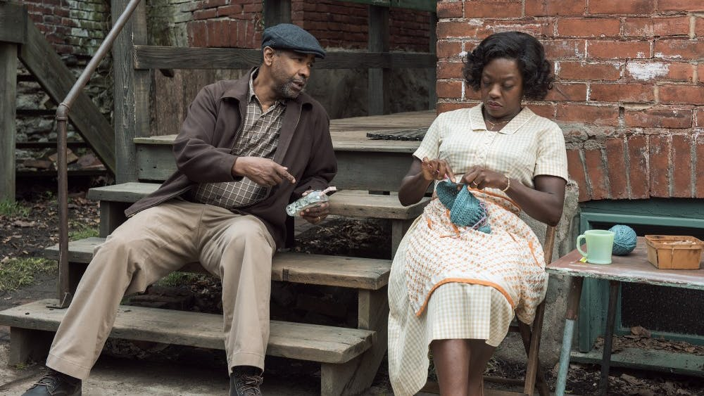 Denzel Washington plays Troy Maxson and Viola Davis plays Rose Maxson in Fences from Paramount Pictures. Directed by Denzel Washington from a screenplay by August Wilson. (David Lee/Paramount Pictures)