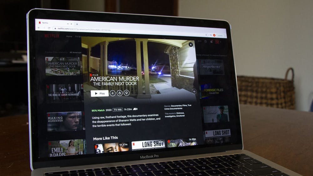 "A laptop displays Netflix's original ""American Murder: The Family Next Door"" on Jan. 11."