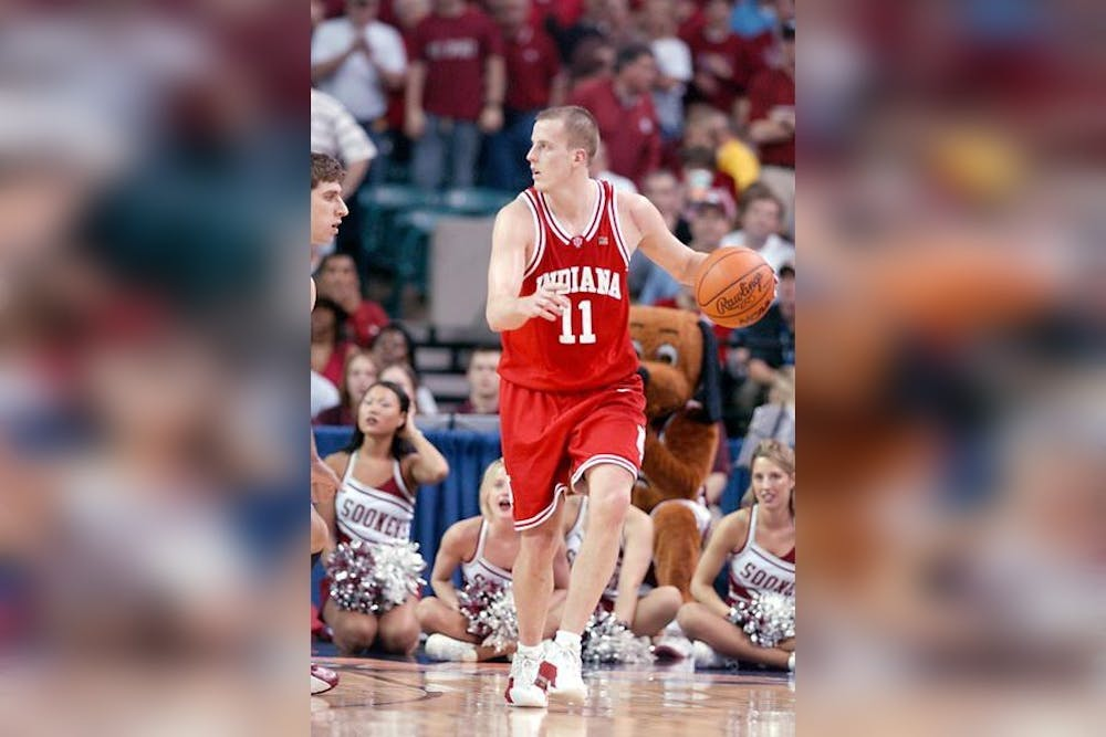 Dane Fife plays in the NCAA Tournament on March 30, 2002. Fife, a new member of IU men's basketball head coach Mike Woodson's staff, held a press conference Tuesday.