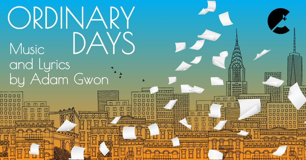 <p>The cover of &quot;Ordinary Days&quot; is pictured. Cardinal Stage will stream the production Feb. 11-21. </p>