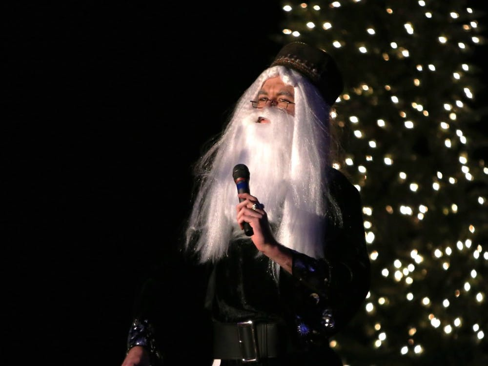 Albus Dumbledore gives a speech at the Yule Ball in December 2014 in Alumni Hall. The event will take place again this year in the Indiana Memorial Union on Dec. 7.