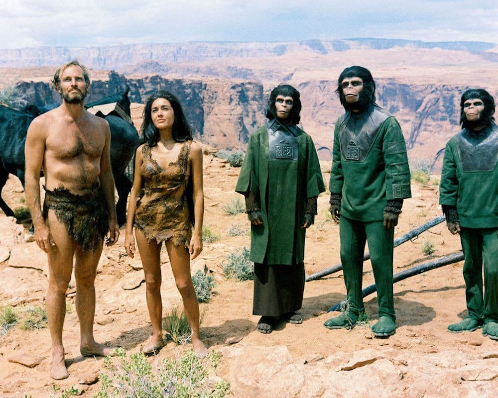 """<p>""""Planet of the Apes"""" was released in the spring of 1968 and featured Charlton Heston and Kim Hunter.&nbsp;</p>"""