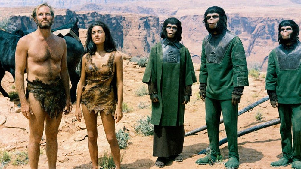 """""""Planet of the Apes"""" was released in the spring of 1968 and featured Charlton Heston and Kim Hunter."""