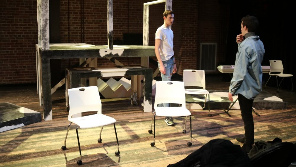 """IU students rehearse for the upcoming production of """"Next to Normal."""" This student-produced musical will run Feb. 1-2 at the Studio Theatre in the Lee Norvelle Theatre and Drama Center."""